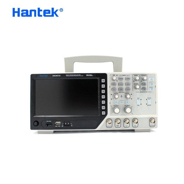 Hantek公式DSO4072C 2 チャンネルデジタルオシロスコープ 1 チャンネル任意/機能波形発生器 70 mhz診断ツール