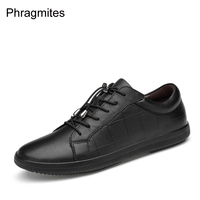Genuine leather shoes men usual dress shoes big size 46 unisex flats 2019 newly casual dress shoes flat shoes sneakers