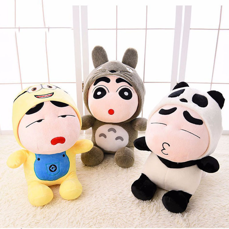 Crayon Shin Chan Plush Toy Japanese Anime Shin-chan Cosplay Totoro Panda Plush Cute Stuffed Soft Doll Kids Toys 8pcs lot anime crayon shin chan mini pvc action figure cute crayon shin chan figures toys doll collectible model toy gift
