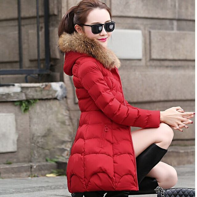 2018 The new Korean version of the long style cap coat FF104 1