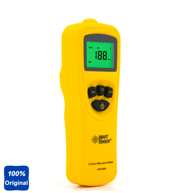 100% Original AR8700A Digital Carbon Monoxide Detector Meter CO Gas Tester Monitor digital indoor air quality carbon dioxide meter temperature rh humidity twa stel display 99 points made in taiwan co2 monitor