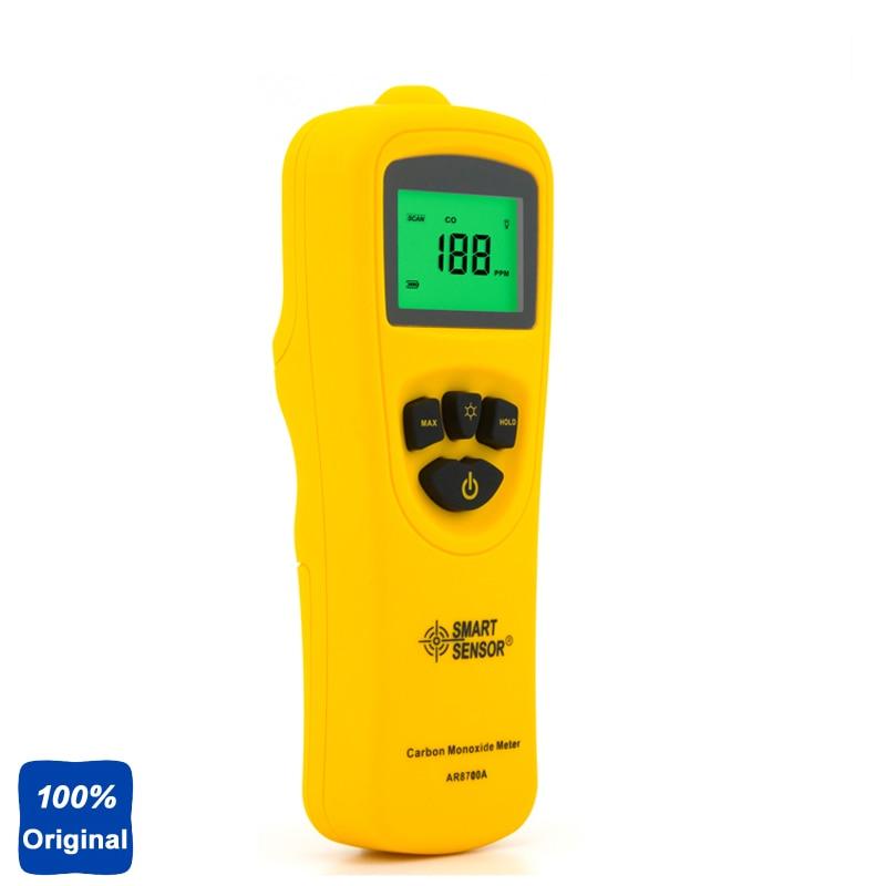 100% Original AR8700A Digital Carbon Monoxide Detector Meter CO Gas Tester Monitor handheld co2 meter monitor detector gm8802 carbon dioxide detector co2 monitor temperature humidity meter