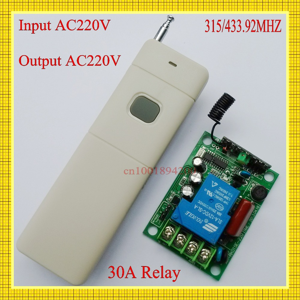 Wireless Remote Control Switch 220v AC 30A Relay High Load Receiver 200-3000m Long Range Transmitter 315/433 Water-Pump Switch ac 380v 63a 3 pole 2 knife switch circuit control opening load switch