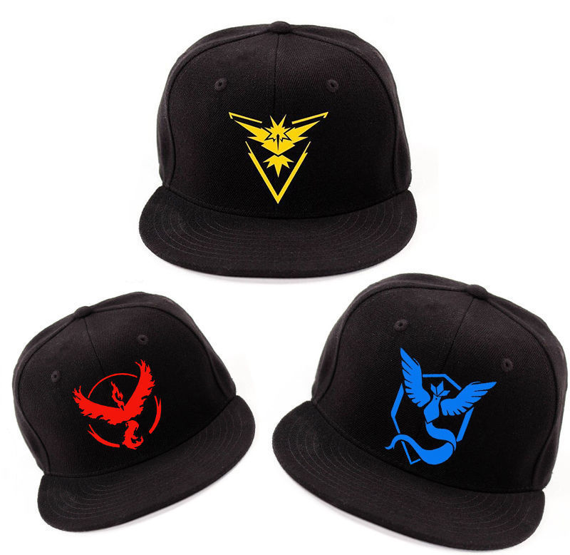 Pokemon Go Team Instinct Valor Mystic RED BLUE YELLOW Hat  Halloween Carnival