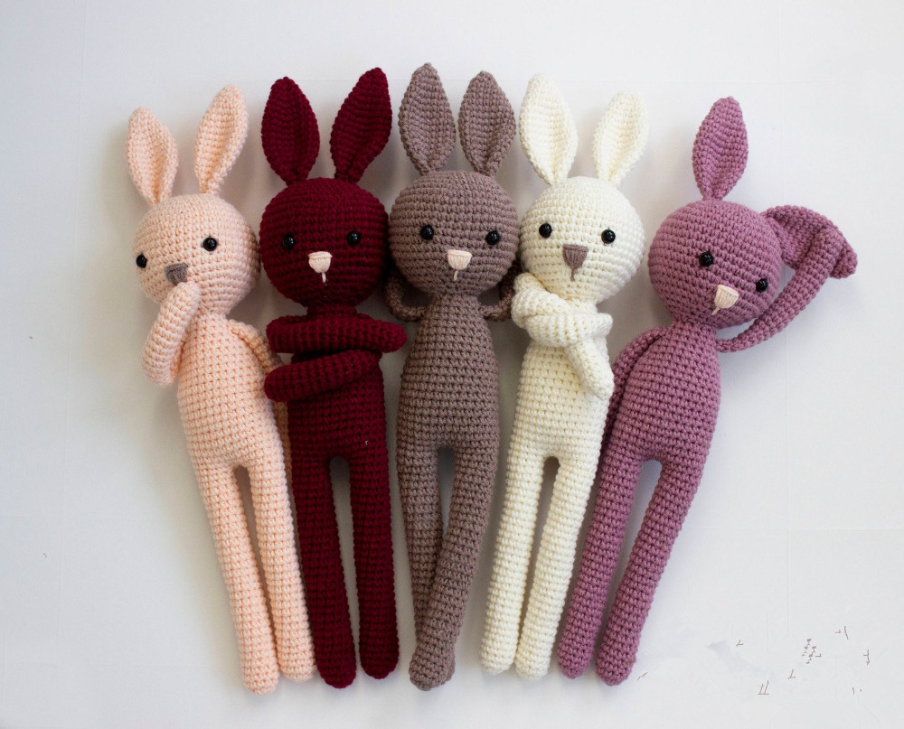 Toys, Bunny, Cute, Number, Crochet, Doll