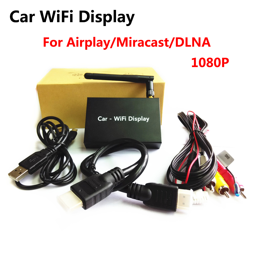 1080P HD Car WiFi Display WIFI Mirror Box Mirror Link for Car and Home Video Audio for Miracast DLNA Airplay Screen Mirroring 5 8g car wifi mirrorlink box for ios11 10 android car wifi airplay mirroring miracast dlna support youtube mirroring