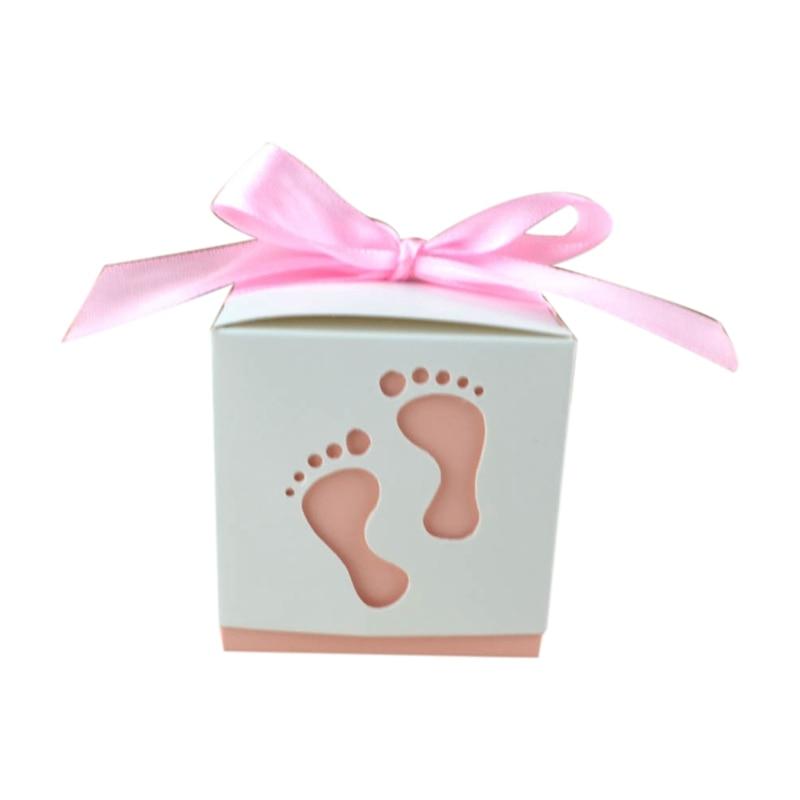 50 Pcs Band Geschenk Candy Box Hochzeit Geschenk Dosen Und Geschenke Hochzeit Kreative Candy Box Fußabdrücke Süßigkeiten Verpackung Hohl Candy Bo