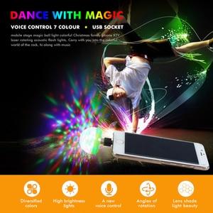 Image 3 - מתנה לחג המולד LED רכב USB אווירה אור DJ RGB מיני צבעוני מוסיקה צליל מנורת עבור USB C טלפון משטח