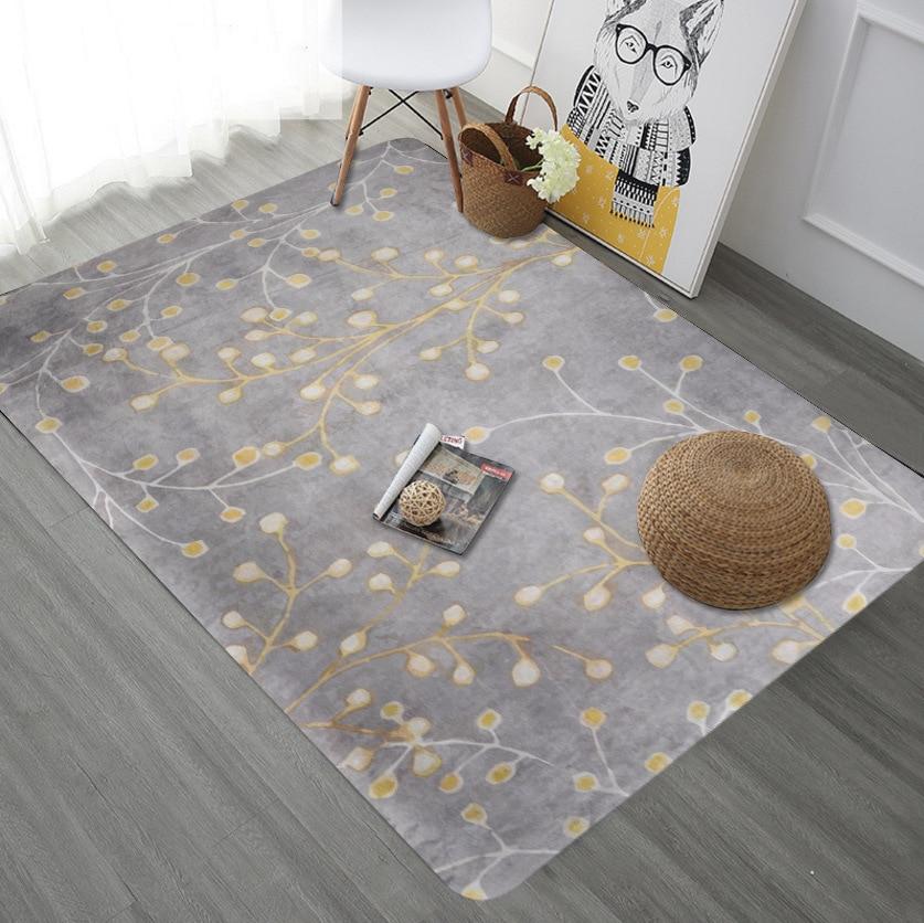 Haute qualité abstraite fleur feuille Art tapis pour salon chambre Anti slip tapis de sol mode cuisine tapis tapis