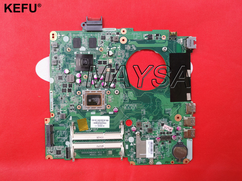 Original laptop motherboard for HP Pavilion 15-N 737138-501 737138-001 DA0U92MB6D0 REVD A10-4655M 8670M 2GB 737140 501 737140 001 for hp pavilion 15 n laptop motherboard da0u92mb6d0 revd a8 cpu free shipping 100