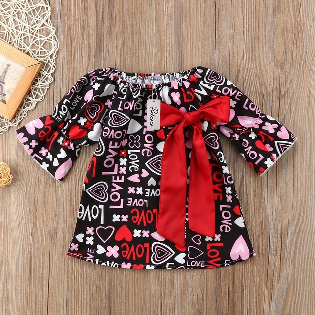 526e4b4fa6aa Fashion Cute Butterfly Knot Girls clothes Toddler Infant Baby Girl Bow  Floral Valentine Party Pageant Formal