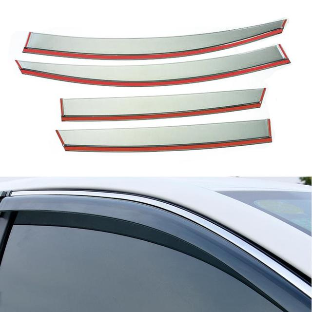 4pcs/lot Car Styling Vent Shade Sun Rain Guard Cover Window Visor For Buick Opel Insignia 2014 2015 Accessories High Quality