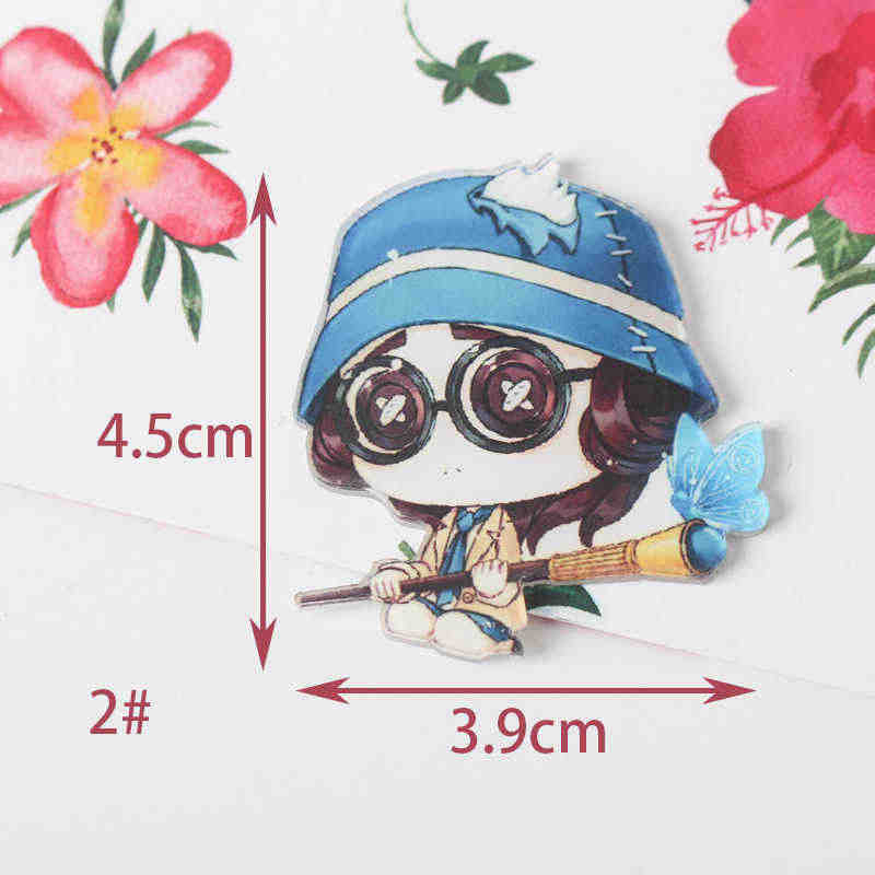 Identity V 1PCS Painting cartoon mix skeleton for Clothing Acrylic Badges  Kawaii Icons on The Backpack Pin Brooch Badge Z63