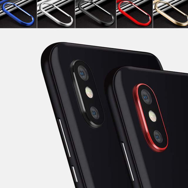 Funda protectora de anillo Alu mi num para cámara trasera Xiaomi mi 8 mi 8 SE 8se mi x 2 s protector circular de Metal de la caja redonda de la lente