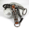 Retro Style Cross Skull Pants Buckle Keychain Key Chain Ring Keyring Keyfob Key Fob Holder 84054
