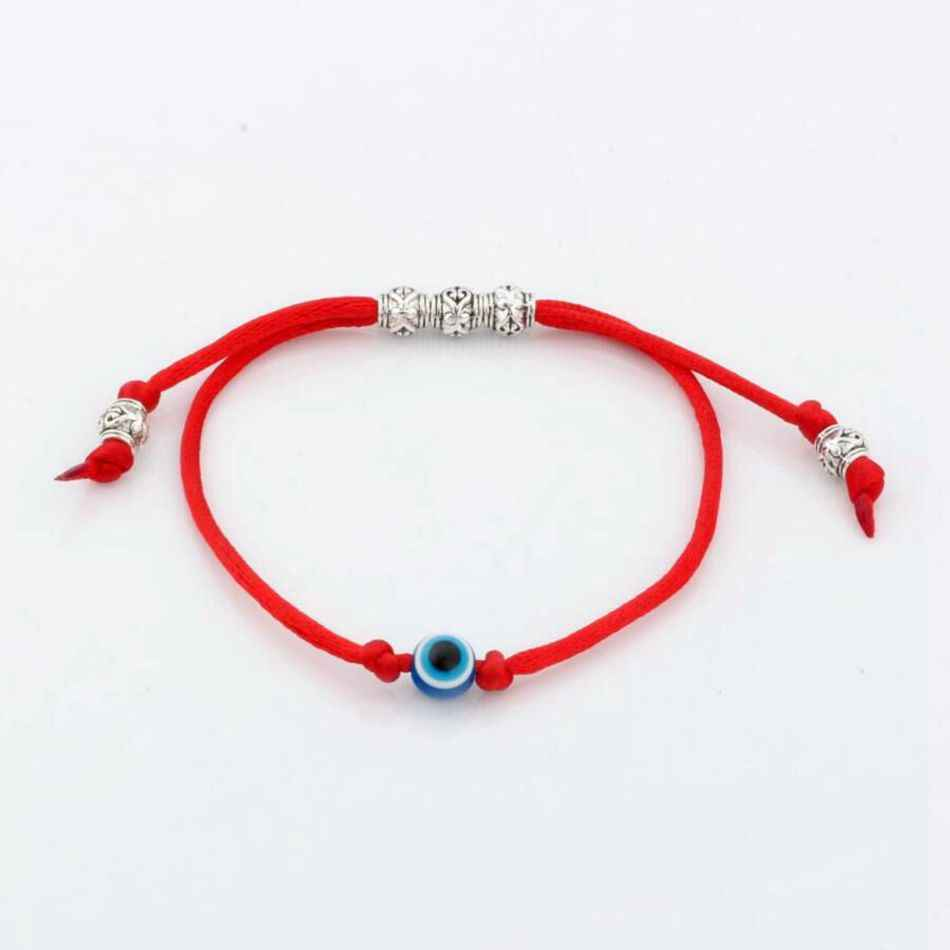 7d4ed00b701fb 5pcs Kabbalah Red String Bracelet Evil Eye Bead blue Protection Health Luck  Happiness Bracelets S11L01
