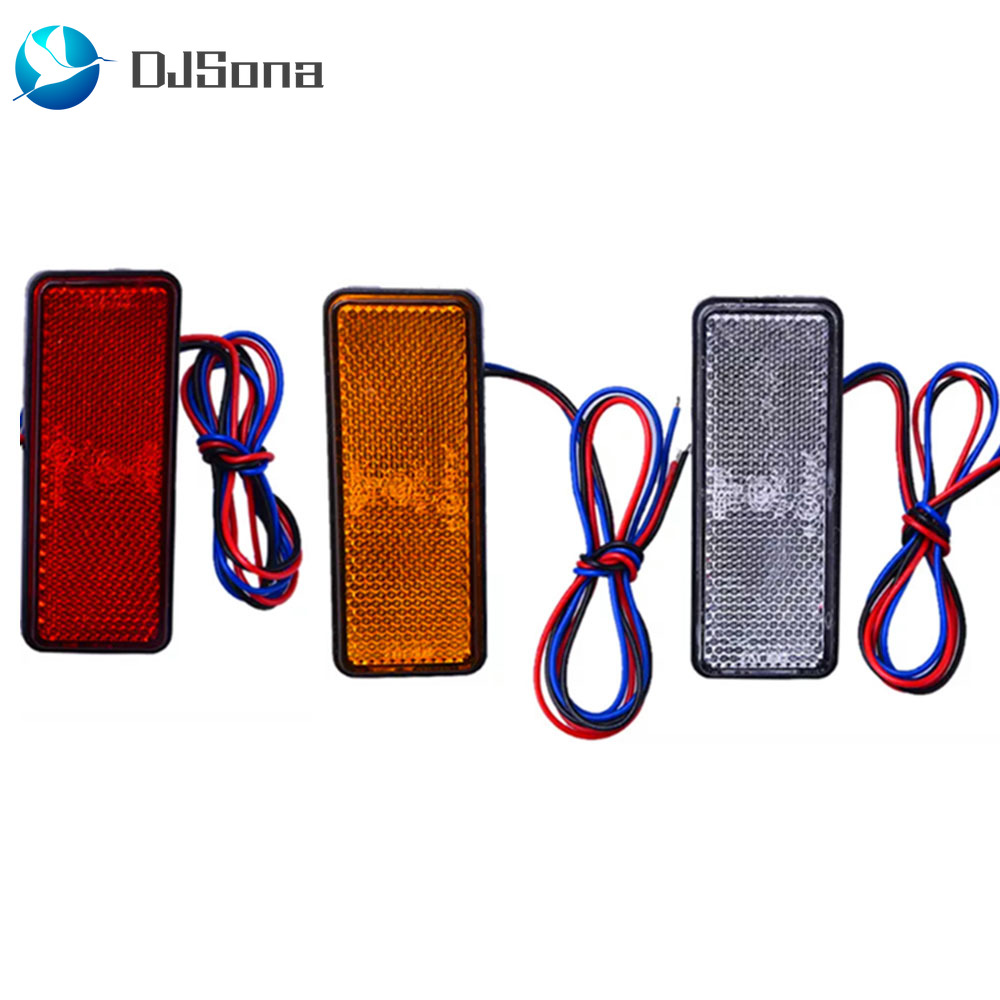 1 Pcs 24V LED Motorcycle ATV Reflector Rear Tail Brake Stop Signal Marker Light For CAR Truck SUV Trailer Scooter Jeep