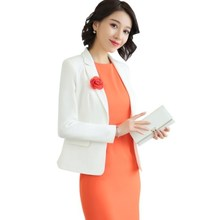 Women Business Bodycon Dress Suit 2019 Long Sleeve Blazer and Dress Set Womens Office Wear 2 Pieces Outfit Ladies Dresses Suits