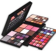 Pro 74 Full Color Makeup EyeShadow Palette Shimmer Glitter Eyeshadow Lip Gloss Blusher Concealer Palette Cosmetic Set Kit