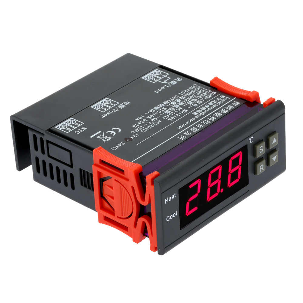 10A 12 В Цифровой температурный контроллер тепловой регулятор-40 Cto 120 C термостат с датчиком температуры