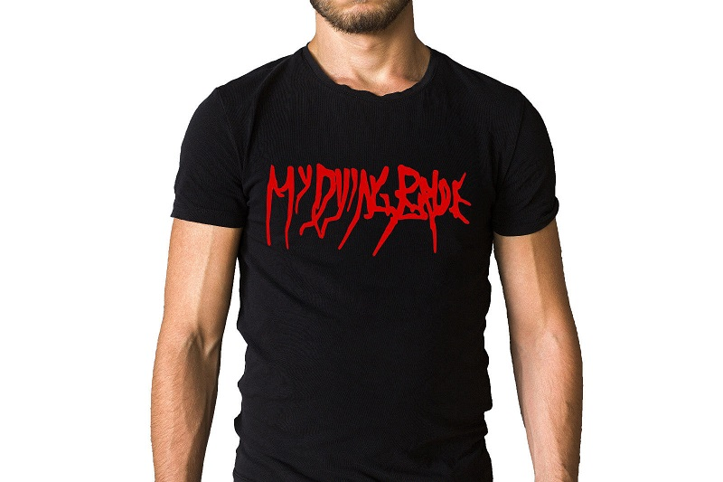Shirt Shop O-Neck Short Sleeve My Dying Bride Band Logo 100% Cotton Mens Tee