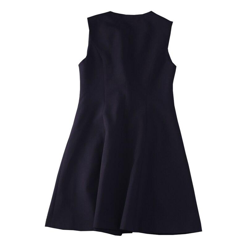 Empire Mode Sans Et Femmes Solide Black L Manches Samgpilee ligne Nouveau longueur 4xl Robes Casual Bouton cou D'hiver O A 2018 Genou Automne 6AZwEz