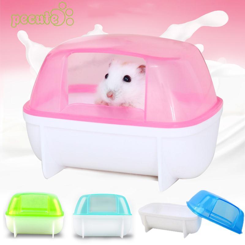 Random Color Pet Hamster Gerbil Rat Bathroom Bath Sand Shovel Hamster Toy Toilet