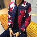 Jaquetas de camuflagem para Os Homens Casaco de Inverno acolchoado-Algodão Outwear Moda Slim Fit Parka Plus Size M-4XL