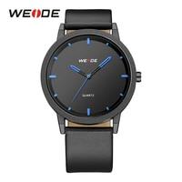 WEIDE Mens Sport Male Clocks Military Quartz Movement Analog Watches Hardlex Outdoor Blue Wrist Watches Black