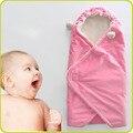 80x120 см 2-слойные Сплошной Цвет Мягкого Флиса и Теплый Ребенок Пеленах Одеяла