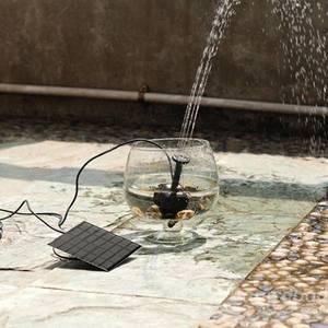 Image 2 - שמש משאבת כוח מים pomp פנל מזרקת בריכת גינה בריכה טבולה השקיה בריכת Automatical עבור מזרקות מפל
