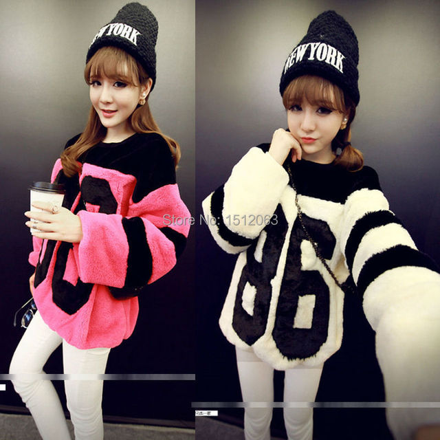 e7b04ce60a9 US $19.4 |Fashion Korean Style Women's Thick Hairy Letters Hoodies Sweet  Cute Pullover Streetwear Autumn Winter Free Size Free Shipping-in Hoodies &  ...