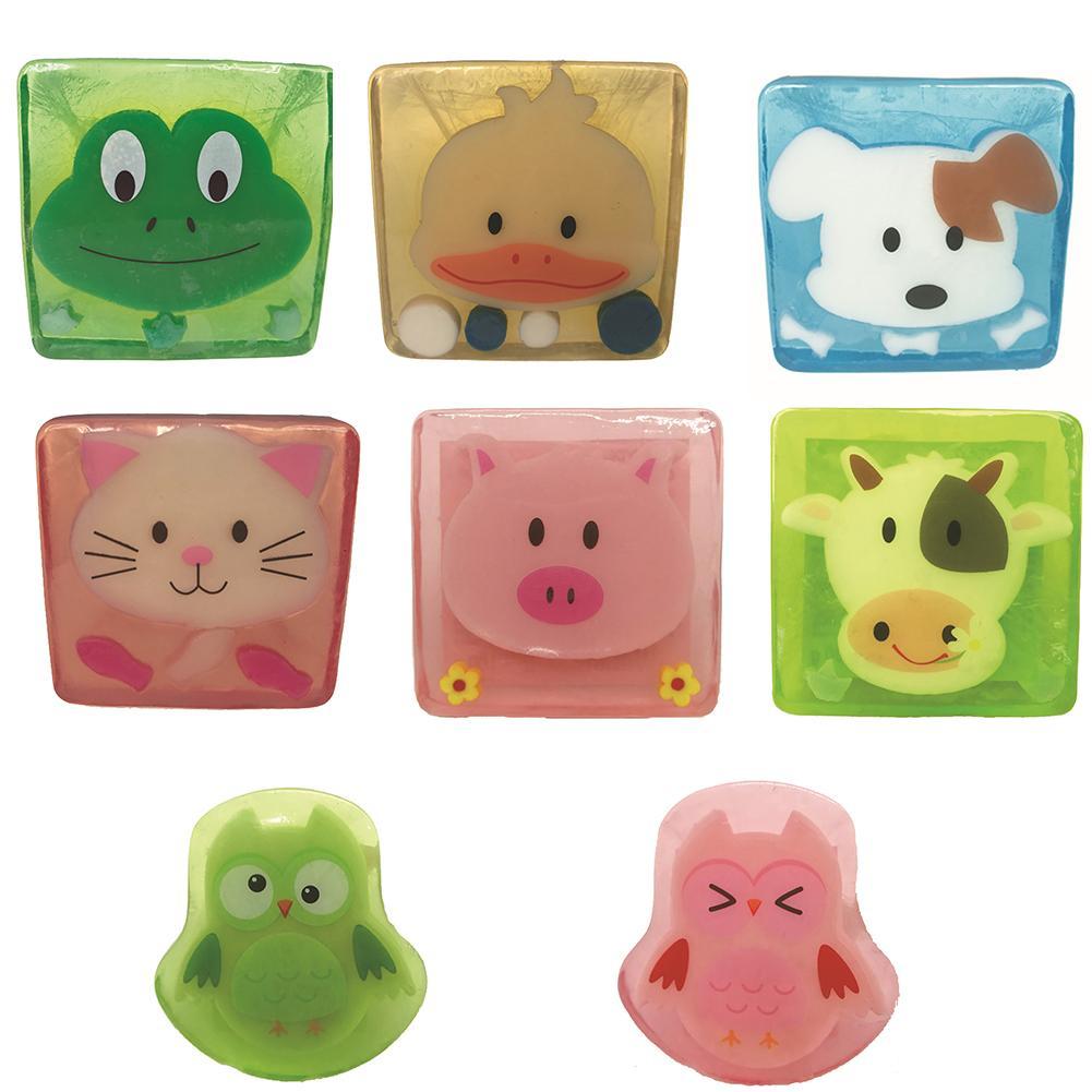 1Pc Lovely Cartoon Animal Fruit Fragrant Soap Moisturizing Kids Bath Hand Washing Soap Bathroom Supplies New
