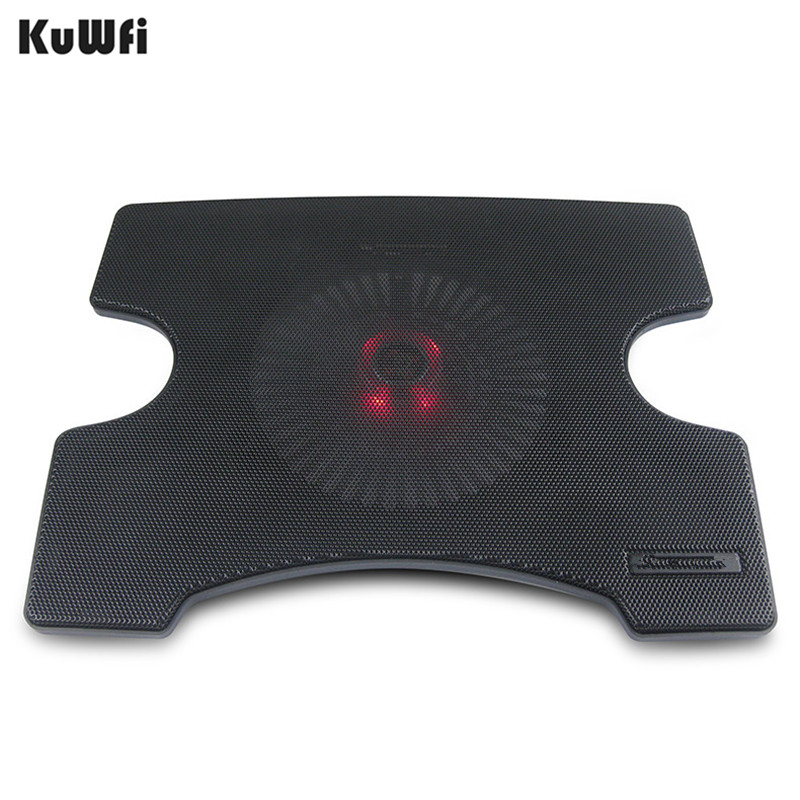 Image 2 - Laptop Cooler Cooling Pad Cooling X Stand for Laptops Notebook PC 14 Inch And Below With 2 USB 2.0 Port Silent Single Fan-in Laptop Cooling Pads from Computer & Office