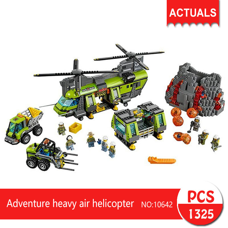 Lepin bela 10642 1325Pcs City series Adventure heavy air helicopter Model Building Blocks Set  Bricks Toys For Children Gift 1713 city swat series military fighter policeman building bricks compatible lepin city toys for children lepin kazi bela sluban