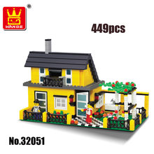 Street Creation Architecture City Inn Village House Famity Home Figures Car Building Blocks Brickeducational toys christmas gift(China)