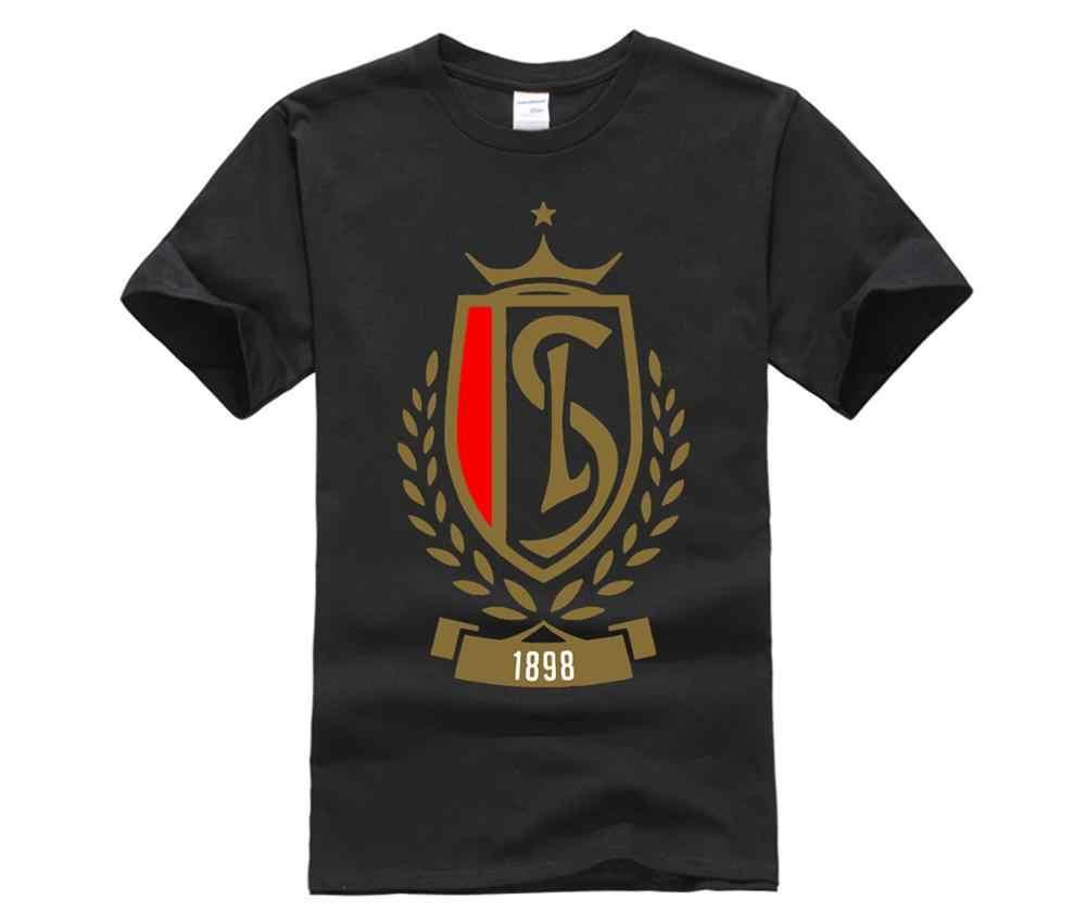 Стандартная футболка Liege Footballer Club Soccerer Team в Лиге из хлопка модная бесплатная