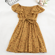 Women Floral Dress short sleeves