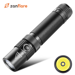 USB Rechargeable LED Flashlight, Zanflare F1 LED Torch 7 Light Modes, IP68 Waterproof, Cree XPL V6, 18650 Tactical Flashlight