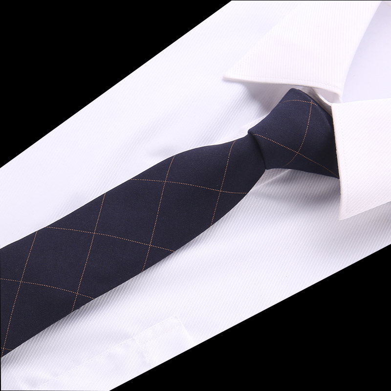 High Quality Tie  Mens 6cm Cotton Tie Striped Gravatas Corbatas Men Fashion Pajaritas 2018 Necktie Ascot Navy Blue Yellow Tie