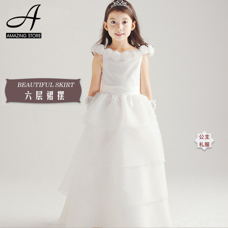 Wedding Gowns Layered Dresses Flower Girls Dresses Long