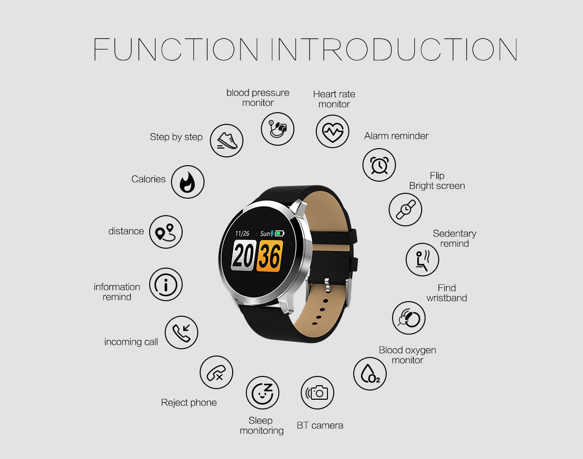Heart Rate Smart Watch Android IOS Blood Pressure Sleep Game Wristwatch Bluetooth Running Watch for Female Male APP Sports Clock