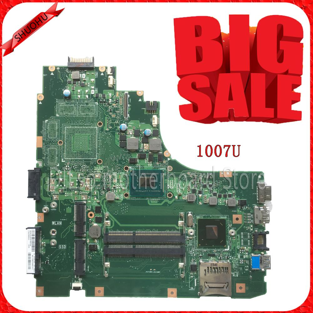 SHUOHU K46CM For ASUS Laptop motherboard K46CM A46C K46CA  mainboard  REV2.0 Integrated with cpu 1007U on board 100% Tested for asus x550ea x550ep laptop motherboard cpu e1 2100 e1 2500 4gb non integrated mainboard 100% fully tested