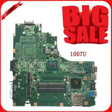 SHUOHU K46CM For ASUS Laptop motherboard K46CM A46C K46CA mainboard REV2 0 Integrated with cpu 1007U