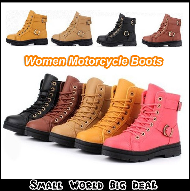 Big Size 2013 Winter New Womens Soft Leather Motorcycle -7311