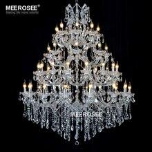 цена Large Luxurious Chandelier Light Fixture Maria Theresa Clear Crystal Suspension Lamp for Living room Dining room Hotel Project онлайн в 2017 году