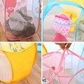 2016 lavando roupas Pop Up cesto de roupa suja cesta de malha saco de armazenamento de brinquedos Bin casa