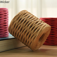 Raffia Straw Yarn Hand Crocheting Yarn for Diy Handmade Hats Multi-usage Thread for Festival Gifts Cakes Packing Wrapping(China)