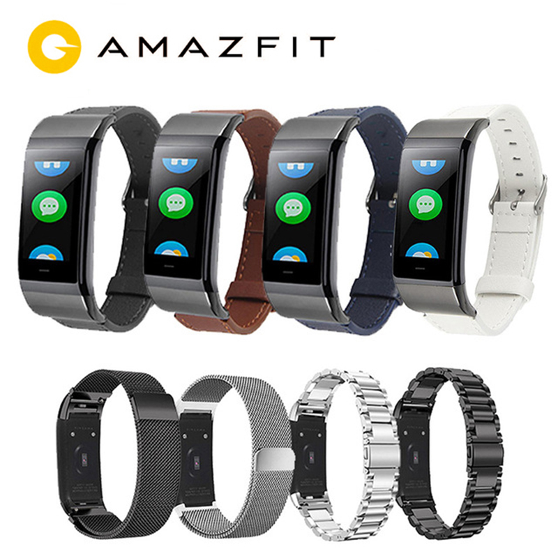Amazfit Smart-Bracelet Replacement-Strap Stainless-Steel Huami Midong for Cor Metal Milan