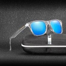 미러 반사 선글라스 여성 편광 된 uv400 남자 나이트 비전 pc 투명 안경 태양 안경 로고 긴 골키퍼